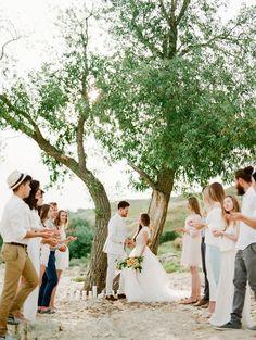 beach wedding ceremonies - photo by Vitaly Ageev Photography http://ruffledblog.com/modern-european-beach-wedding-inspiration