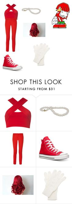 """""""knuckles the echidna cosplay"""" by octorose ❤ liked on Polyvore featuring Motel, Michael Kors, Converse, White House Black Market, women's clothing, women's fashion, women, female, woman and misses"""