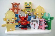 Paper Toys by creaturekebab