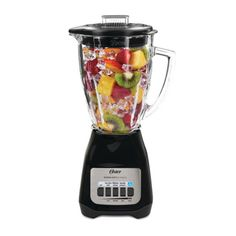 New Beautiful Brand Oster Classic Series 5-speed Blender Black White modern Cool #Oster Best Blenders, Smoothie Recipes, Snack Recipes, Protein Smoothies, Recipes Dinner, Cooking Recipes, Snacks, Oster Blender