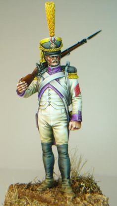 Voltigeur du 33e rйgiment d'infanterie de ligne, 1807.