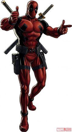 Deadpool character model from Marvel: Avengers Alliance #ItsDeadpool #NotSpiderman #sh*tgettingreal
