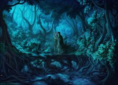 Fantasy Forest by The-Swoosh on DeviantArt Fantasy Illustration, Landscape Illustration, Fantasy Forest, Different Perspectives, Fantasy Landscape, Deviantart, Ink, Photography, Painting