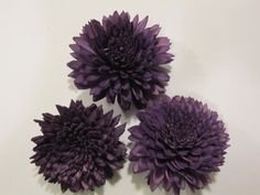 Sola Zinnia flowers   SET of 3  Purple by SuperiorCraftSupply, $4.95