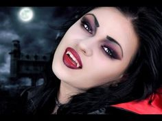 One of the most common looks that people try for Halloween is the look of a vampire. Bumping into a vampire can be dreadful experience for anyone and everyone. A lot of people think that it takes a lot of … Zombie Make Up, Girls Vampire Costume, Vampire Girls, Girl Vampire Makeup, Vampire Look, Gothic Vampire, Scary Vampire, Vampire Art, Soirée Halloween