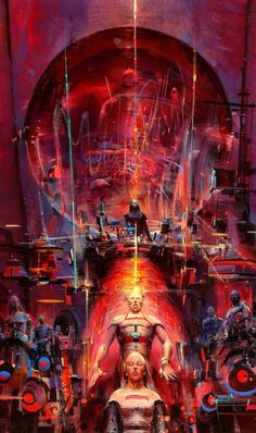 JOHN CONRAD BERKEY (American, Hunter of Worlds, paperback cover, 1977 Casein and acrylic on board 18 - Available at 2013 July 31 Illustration Art. John Berkey, 70s Sci Fi Art, Science Fiction Art, Retro Futurism, Futurism Art, Sci Fi Fantasy, Space Fantasy, Cover Art, Concept Art
