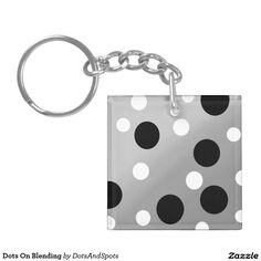 Dots On Blending Double-Sided Square Acrylic Keychain