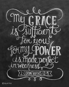 Scripture Art 2 Corinthians 129 Print Bible Verse by LilyandVal,   http://bestfriendmemoriesever.blogspot.com