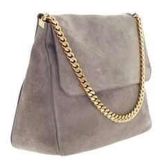 d9c546019bdc Celine Gourmette Shoulder Bag Suede Large In Good Condition For Sale In New  York, NY
