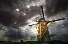 "Fotografía Dutch Mill ""Korenmolen"" por Ton l ع Jeune en 500px"