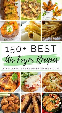 150 Best Air Fryer Recipes This is the ULTIMATE collection of the best air fryer recipes. There are over a hundred air fryer recipes for breakfast, lunch, dinner, appetizers, desserts - 150 Best Air Fryer Recipes Air Frier Recipes, Air Fryer Oven Recipes, Air Fryer Dinner Recipes, Power Air Fryer Recipes, Air Fryer Recipes Ground Beef, Air Fryer Recipes Weight Watchers, Air Fryer Recipes Breakfast, Recipes Dinner, Airfryer Breakfast Recipes