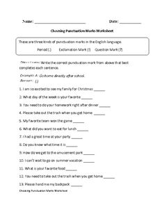 25 Punctuation Worksheets for Grade 1 Punctuation Worksheets for Grade 1 or Englishlinx √ Punctuation Worksheets for Grade 1 . 25 Punctuation Worksheets for Grade 1 . Kindergarten Addition Worksheets, 1st Grade Worksheets, Punctuation Worksheets, Writing Worksheets, Writing Prompts For Kids, Teaching Writing, Use Of Quotation Marks, 3rd Grade Writing, Sentence Writing