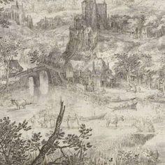 Landscape with the Healing of the Blind, David Vinckboons (I), 1601 - Rijksmuseum
