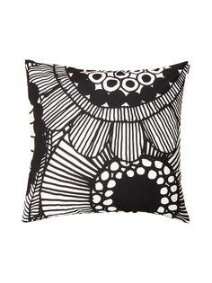 Siirtolapuutarha Cushion Cover Marimekko Cushion Black and White Cushion Interior Design Nordic Style Pappa Sven Monochrome home
