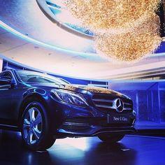 An illuminating driving experience.  #Mercedes #Benz #CClass #Instacar #carsofinstagram #germancars #luxury