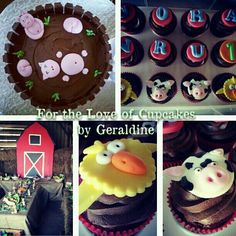 Farm theme party #fortheloveofcupcakesbygeraldine https://m.facebook.com/profile.php?id=180343555337010