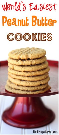 World's Easiest Peanut Butter Cookies Recipe!!