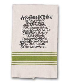 Look at this #zulilyfind! 'A Southern Kitchen' Dish Towel #zulilyfinds