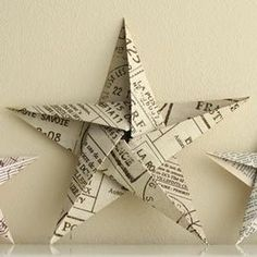 How to Make a Star Christmas Tree Ornament - Step by Step Homemade Paper Crafts, DIY and Crafts, The secret of how to make a star ornament that looks beautiful and intricate, but is surprisingly simple to make. A homemade Christmas decoration your. Diy Christmas Star, Paper Christmas Ornaments, Homemade Christmas Decorations, Christmas Origami, Christmas Crafts, Ornaments Ideas, Homemade Ornaments, Outdoor Christmas, Kids Christmas