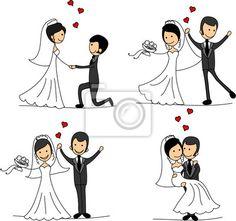 18 Best Bride And Groom Cartoon Images Indian Wedding Invitations