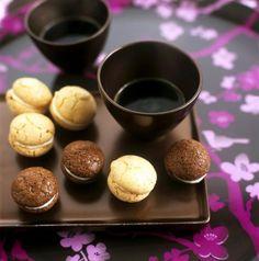 Macarons cu ciocolata si vanilie