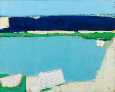 Nicolas de Staël - Artist XXè - Abstract Art - Marine à Dieppe, 1952 Abstract Landscape Painting, Landscape Art, Landscape Paintings, Abstract Art, Michael Borremans, Robert Rauschenberg, Joan Mitchell, Le Havre, Action Painting