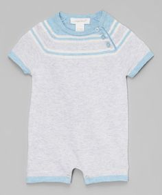 Gray Castle Side-Button Romper - Infant #zulily #zulilyfinds