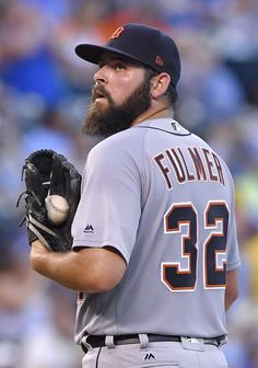 Tigers pitcher Michael Fulmer waits to be relieved in the third inning on Thursday, July 20, 2017, in Kansas City, Mo.