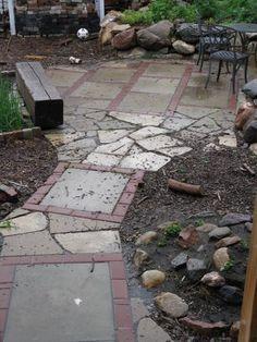 Paving Stones and Reused Sidewalk Blocks -