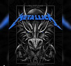 Metallica Art, Metallica Concert, Jason Newsted, Cliff Burton, Kirk Hammett, James Hetfield, Graffiti Lettering, Thrash Metal, Concert Posters