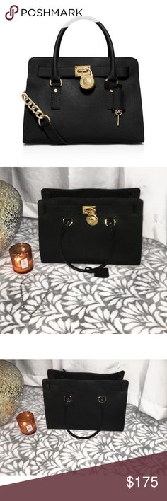 Michael Kors Hamilton Satchel MK medium hamilton used a few times still in really good condition, beautiful tote in person Michael Kors Bags