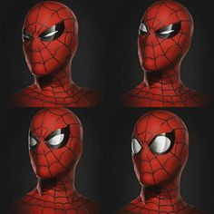 Some concept art designs for Spidey's expressive mask in Civil War and Homecoming, a nod to the legendary comic artist Steve Ditko