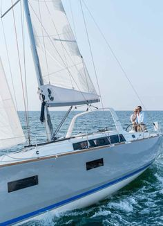 Beneteau Oceanis 38: Without the in-mast mainsail furling option, the sail instead lowers between lazy jacks and secures within a zippered integrated cover.