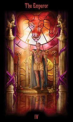 IV - Emperor - Legacy of the Divine Tarot by Ciro Marchetti