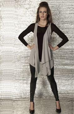 Venni Caprice Basics Collection LONG  Drape Vest / Top - Any color. $45.00, via Etsy.