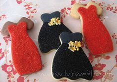 Holiday Dress cookie by L sweets, via Flickr
