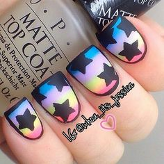 Nail Art Designs #black