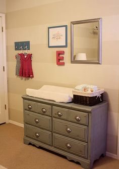 Refinished dresser as changing table