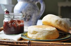 """Homemade English Muffins with all the """"nooks and crannies!"""""""