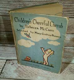 Children's Cheerful Cherub by Rebecca McCann HC Book 1932 Vintage Book Poems | eBay