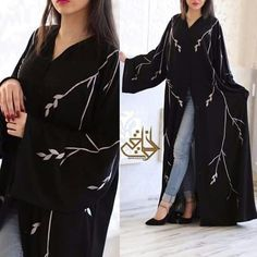 Abaya provided ready for delivery . Burqa Designs, Abaya Designs, Abaya Pattern, Modern Abaya, Niqab Fashion, Hijab Fashionista, Hijab Outfit, Occasion Wear, Muslim