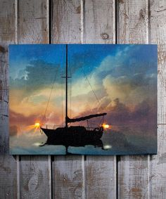 Look at this Bow & Stern Light-Up Canvas by Ohio Wholesale, Inc. Light Up Canvas, Canvas Lights, Paint Party, Light Decorations, Painting Inspiration, Decor Crafts, Artsy Fartsy, Wrapped Canvas, Bows