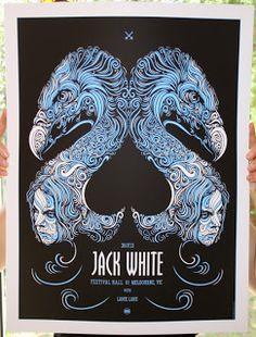 INSIDE THE ROCK POSTER FRAME BLOG: Todd Slater Jack White Australia and Paris France posters on sale NOW