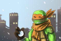 Mikey enjoys the snow by JayJayRey on deviantART