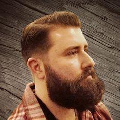 FACIAL HAIR + HAIRCUT: Haircut, beard and moustache style / Стрижка и форма бороды