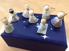 Bobbin Lace, Nespresso, Lana, Biscuit, Nativity, Table Decorations, Christmas, How To Make, Inspiration