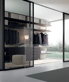 Chic sliding glass doors for the modern walk-in closet