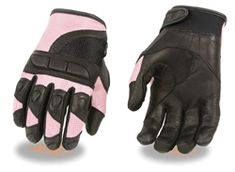 Lined for Bikers Butterfly Motorcycle Gloves Womens Teal /& Black Leather