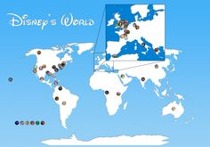 Disney's World: Map of Disney Animated Film Locations Looks like we're going on a world trip!