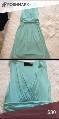 Light Blue sundress with pockets Size Small Cynthia Rowley sundress. V-neck, fitted at waist- very flattering! Also has pockets at hips. Hit a few inches above the knee. Worn once. Cynthia Rowley Dresses Mini